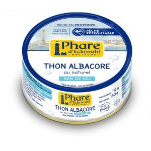 THON ALBACORE*  AU NATUREL  A TENEUR REDUITE EN SEL 160G