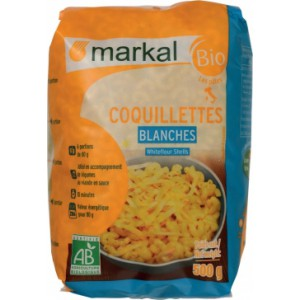 COQUILLETTES BLANCHES 500G MARKAL BIO