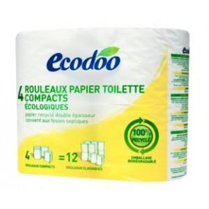 Papier toilette compact 4 rouleaux recycle - Rouleaux papier toilette ...