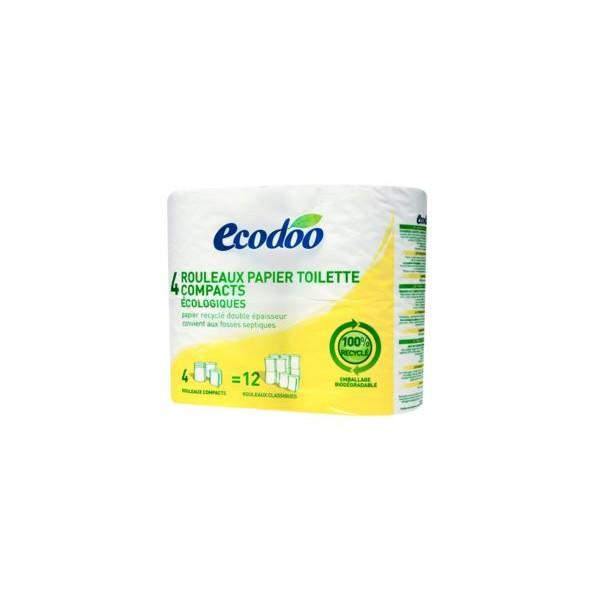 papier toilette compact 4 rouleaux recycle entreamis bio