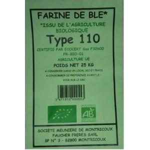 FARINE BLE T110 25KG MOULIN BIO