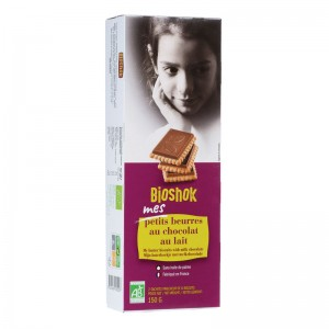 S.PETIT BEURRE CHOCOLAT LAIT 150G BIO