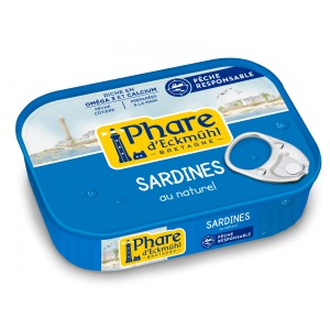 SARDINES* AU NATUREL 135G CERTIFIEES MSC