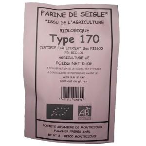 FARINE SEIGLE T170 5KG BIO