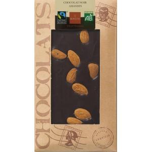 CHOCOLAT NOIR AMANDES 100G BIO