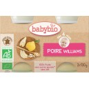 POT BEBE POIRE WILLIAMS 2X130G 4 MOIS BABYBIO BIO