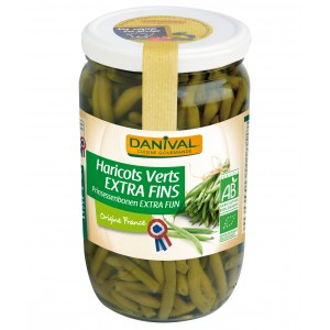 HARICOTS VERTS EXTRA FINS 660G FRANCE BIO