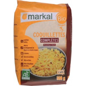 COQUILLETTE COMPLETES 500G MARKAL BIO