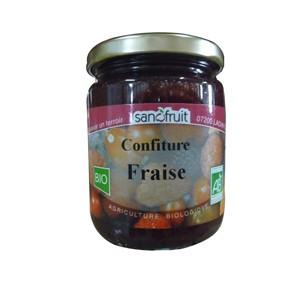 CONFITURE FRAISES 320G SANOFRUIT BIO