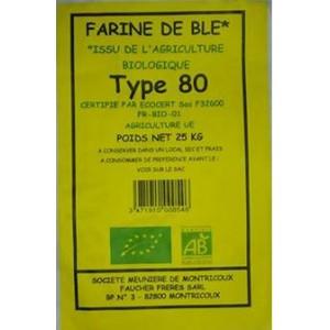 FARINE BLE T80 25KG MOULIN BIO