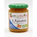 SPECIALITE BIOLOGIQUE 65% FRUIT 300 G TROIS AGRUMES - 65% DE FRUITS BIO