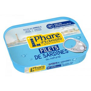 FILETS DE SARDINES AU NATUREL* 70G