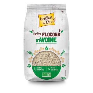 FLOCONS AVOINE PETIT 500G FRANCE GRILLON OR BIO