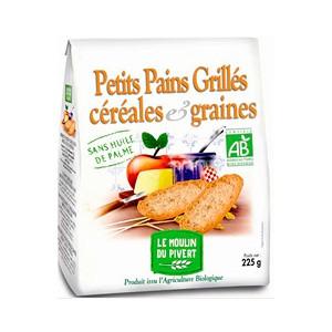 PETIT PAIN GRILLE GRAINES CEREALES 225G BIO