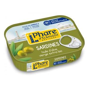 SARDINES* HUILE OLIVE BIO 135G