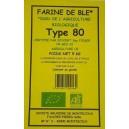 FARINE BLE T80 5KG MOULIN BIO
