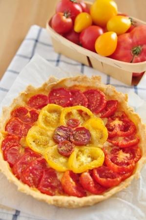 Tarte aux tomates et au Comté