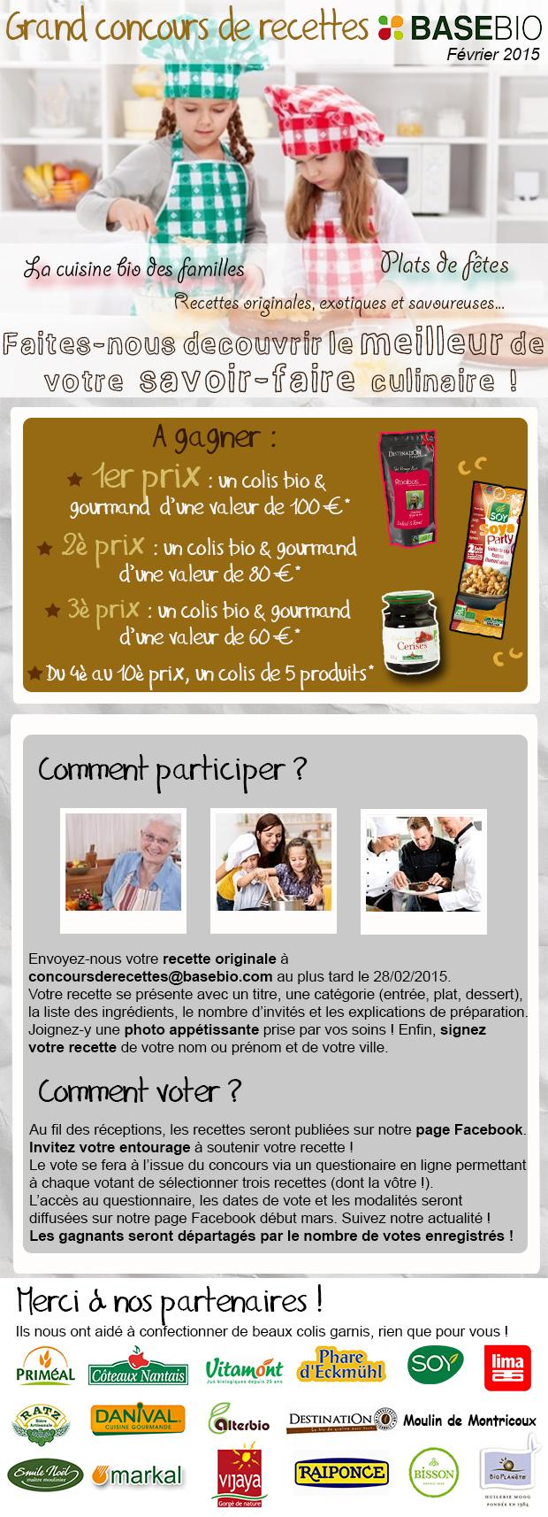 Concours Recettes Basebio février 2015